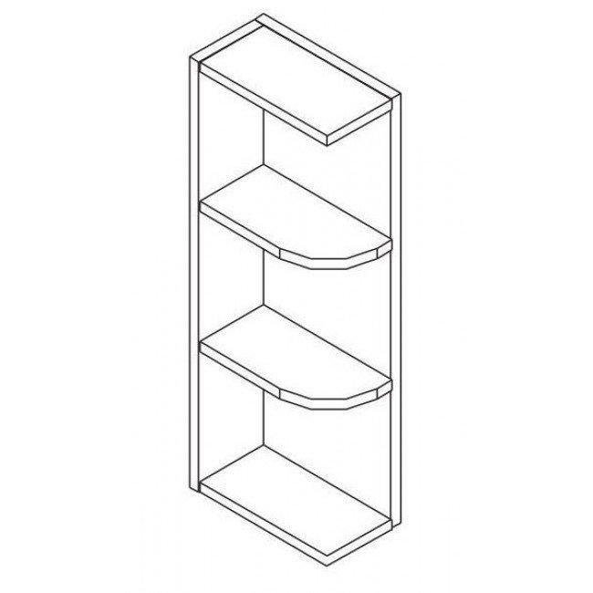 Wall End Shelf With Open Shelves Tg